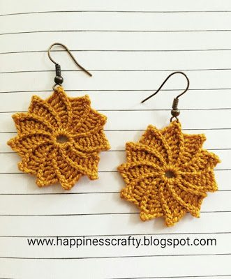 free crochet earrings pattern