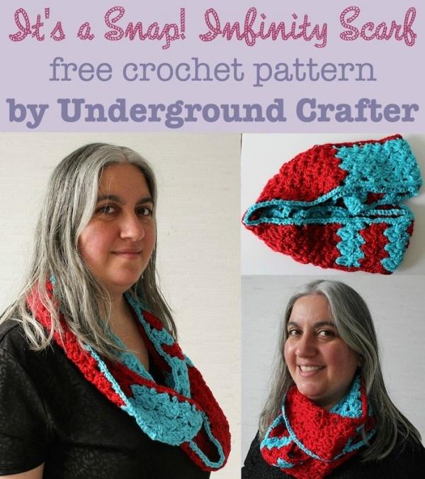 Infinity sjaal gratis haak patroon