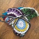 kierstin crochet mandalas with ribbon