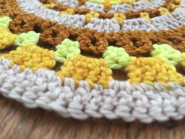 kim crochet mandala flat