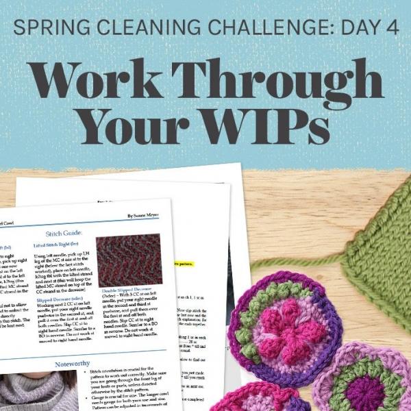 organize crochet wips