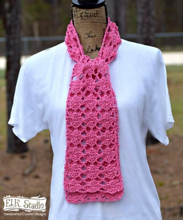 pink scarf free crochet pattern