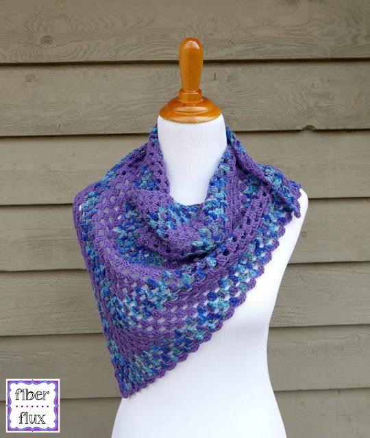 shawlette free crochet pattern