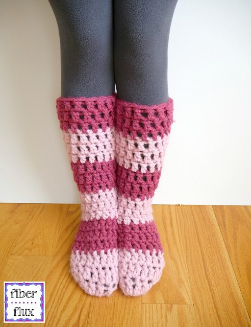 slipper socks free crochet pattern