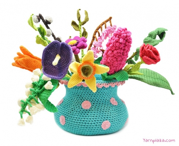 spring bouquet free crochet pattern