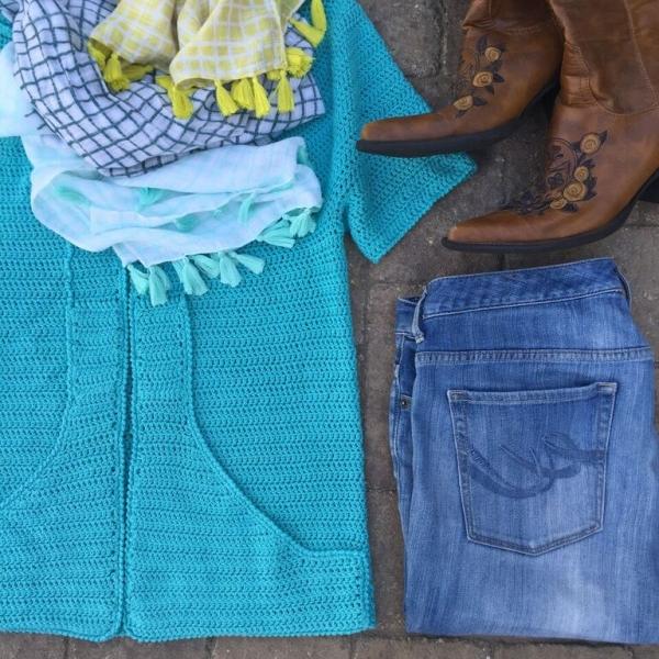 summer love crochet shirt