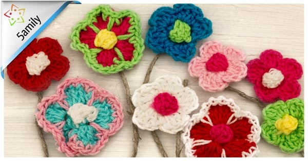 5amily crochet flowers