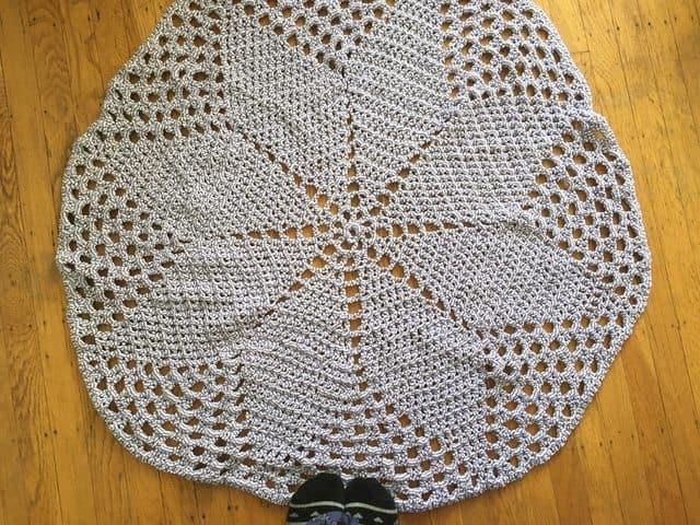 Valerie's Crochet Mandala Rug 1