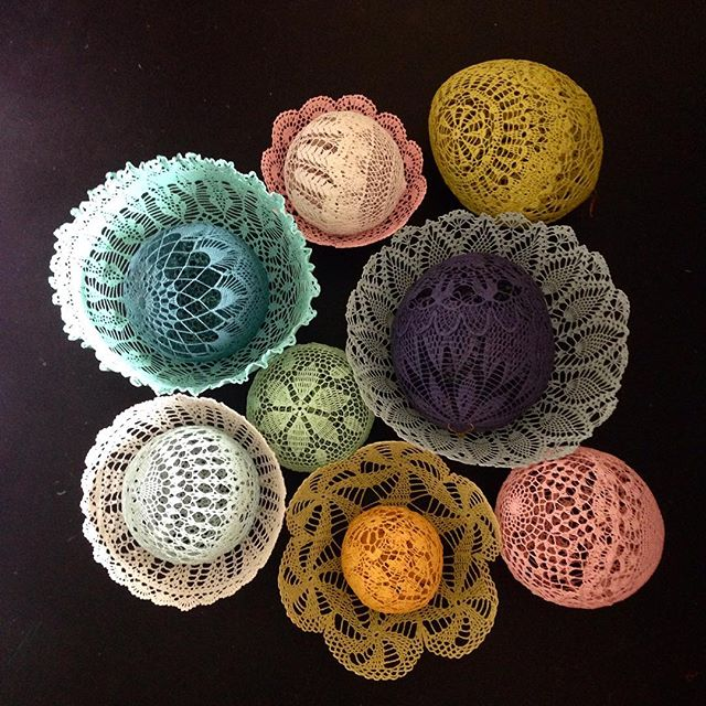 colorful doily art