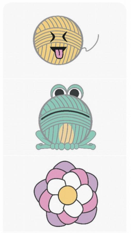 craftmoji crochet stickers