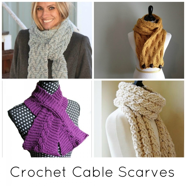 crochet cable scarf patterns