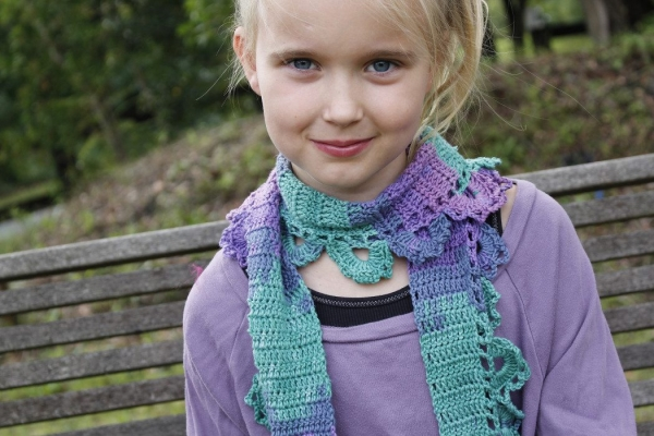 crochet cotton scarf pattern