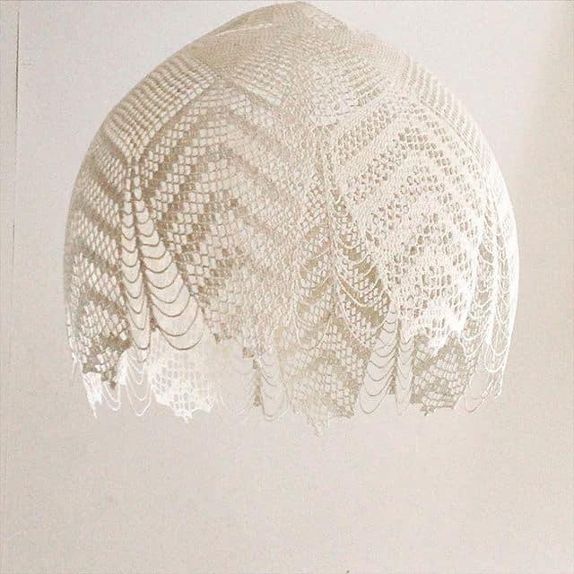 crochet doily lamp