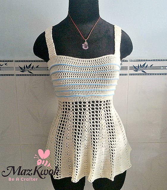 crochet tank top free pattern