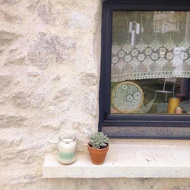 окно салфетка искусства