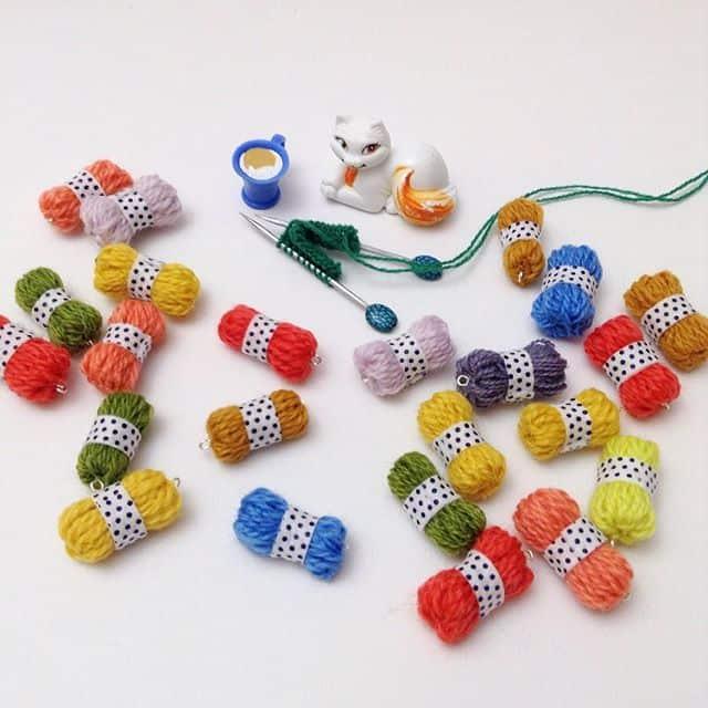 micro yarn skeins