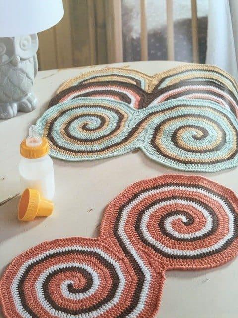 modern baby crochet burp rags