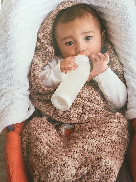 modern baby crochet car seat cozy