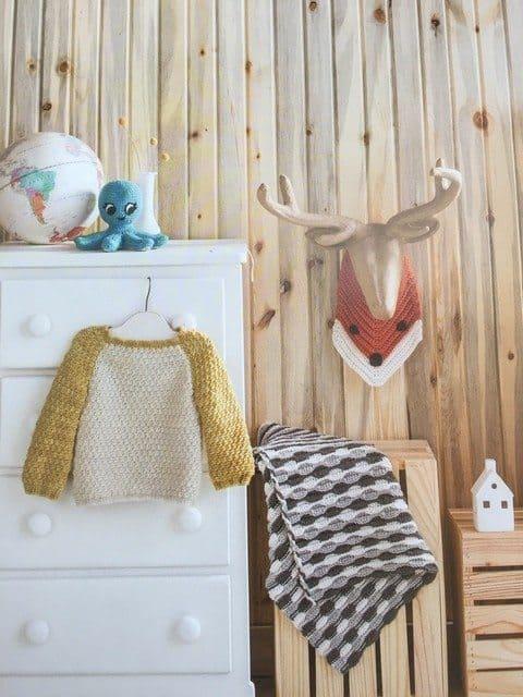 modern baby crochet display