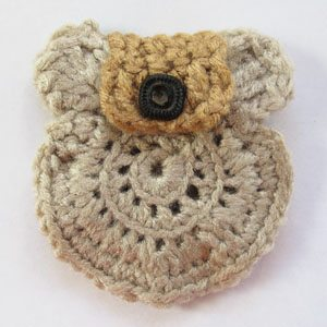 prospector's change purse free crochet pattern