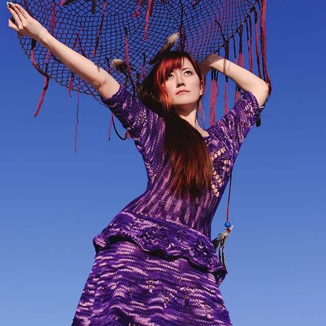 ruchkikruchki purple crochet dress