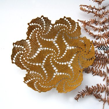 spiral crochet doily bowl