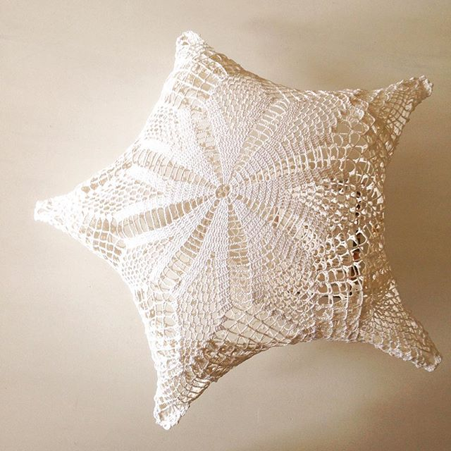 upcycled crochet doily