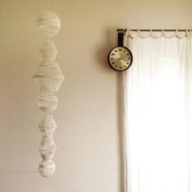 upcycled doily sculpture art