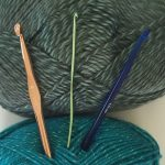 yarn and crochet hooks
