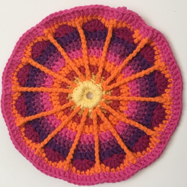 anonymous crochet mandala for wink