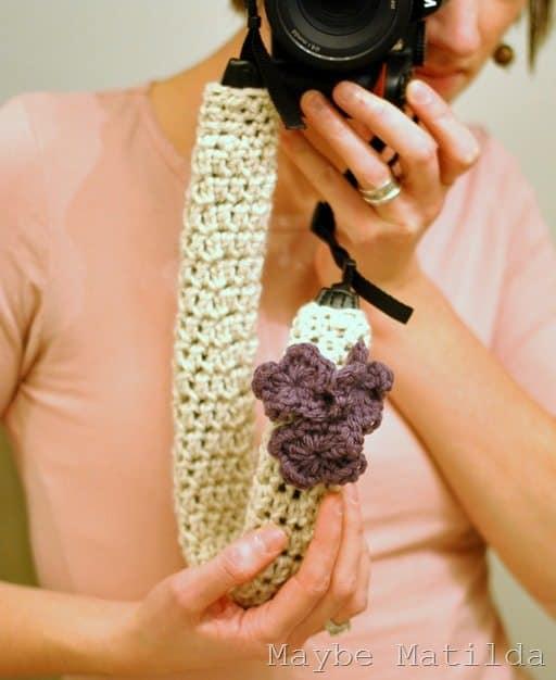 camera strap crochet cover free pattern