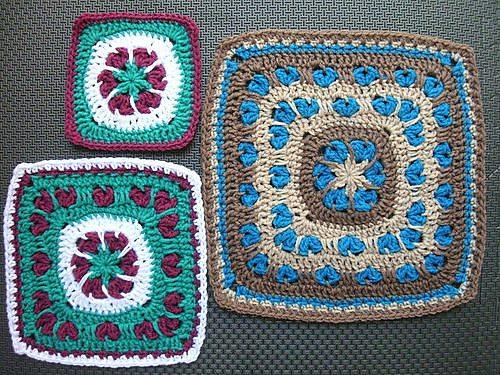 crochet afghan square pattern