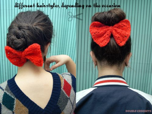 crochet bow free pattern
