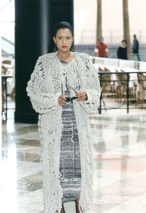 crochet fashion coat