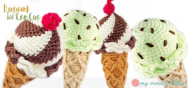 crochet ice cream cone free pattern