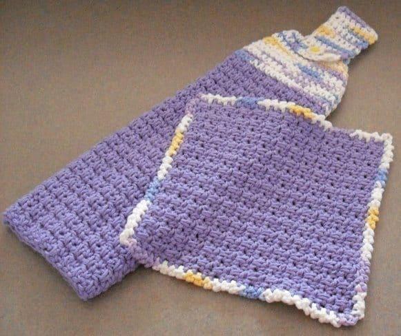 crochet kitchen set