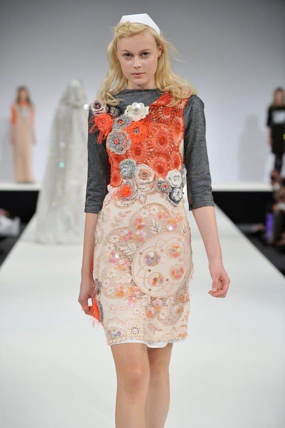 crochet sequin dress