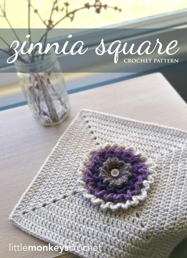 crochet square flower pattern