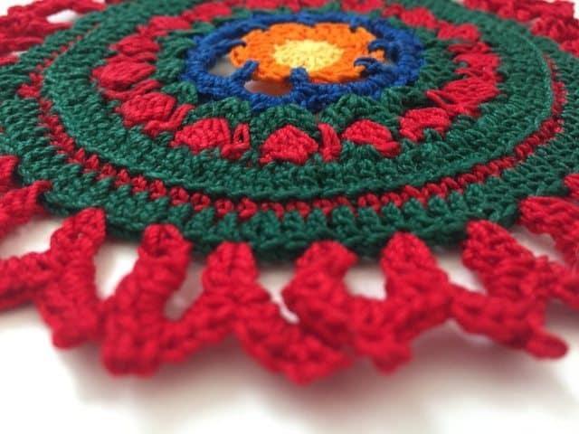 esmeralda crochet mandala 4
