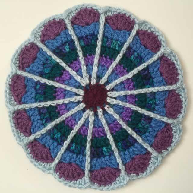 esmeralda crochet mandala