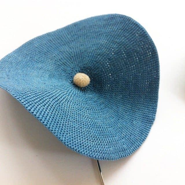 fujitamiho blue crochet art