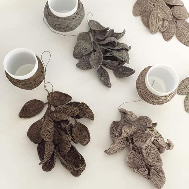 fujitamiho crochet leaves