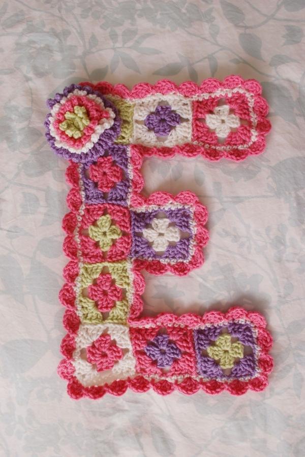 granny square crochet letters