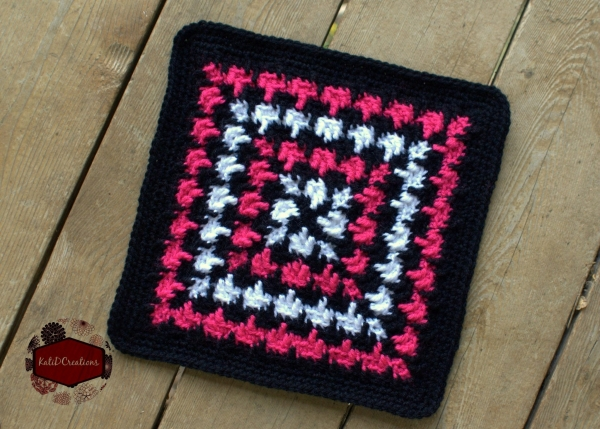 houndstooth crochet square free pattern