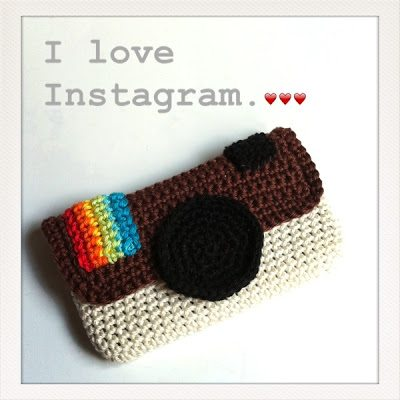 instagram crochet phone case