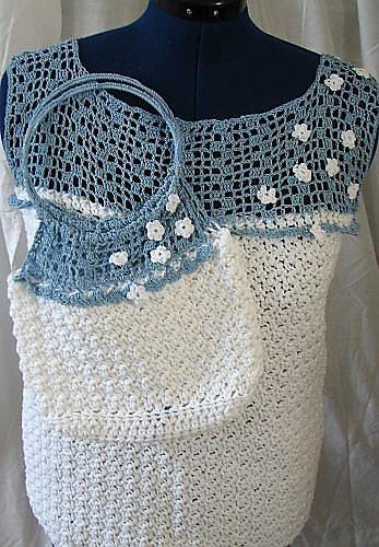 matching crochet shirt and purse