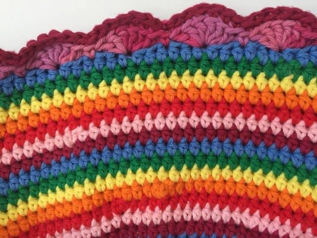 ruth crochet mandala rainbow hat