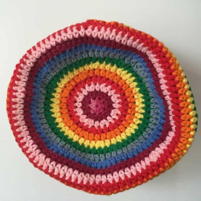 ruth rainbow crochet mandala hat