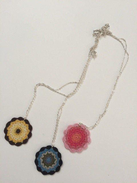 sandra crochet mandala jewelry