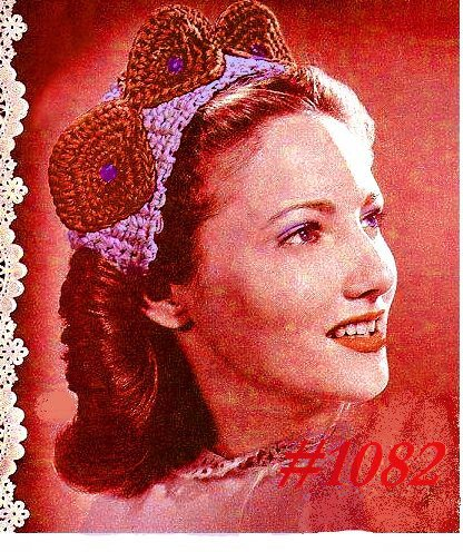 bandeau hat 1944 vintage crochet pattern
